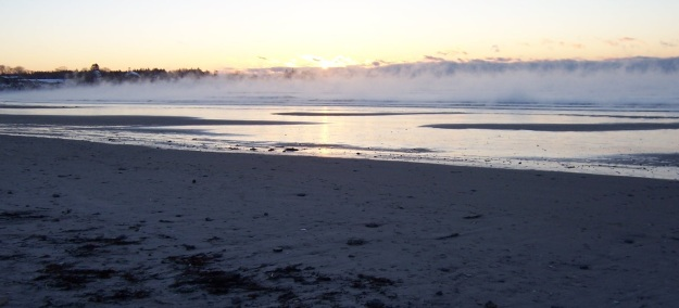 It was 4 below on Higgins Beach this morning...