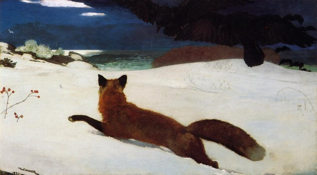 "Winslow Homer's ""Fox Hunt,"" painted on Prouts Neck"