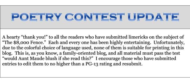 dogblog--poetry contest
